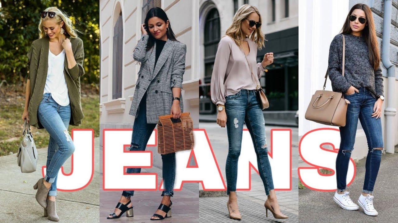 Outfits Con Jeans De Moda 2020 2021 Youtube