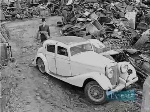 1961 Car Breakers Yard A Jaguar Mkiv Meets Its Fate