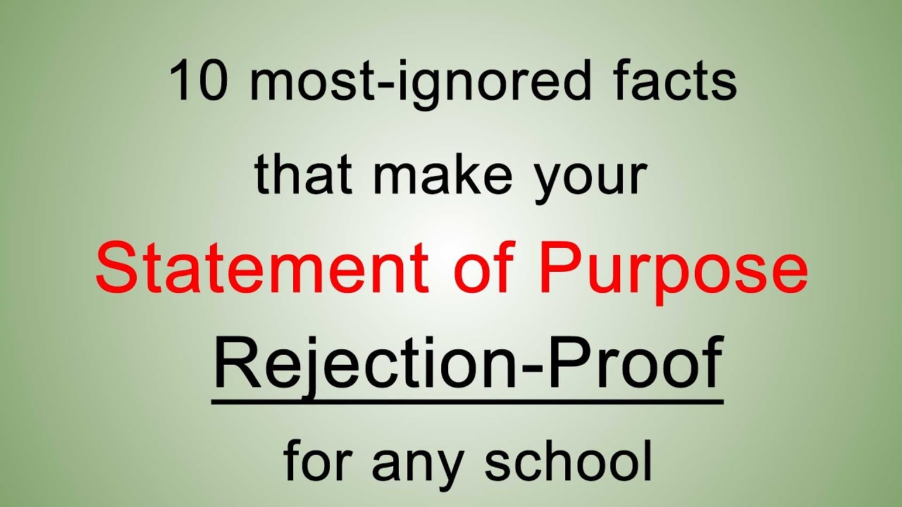 10 most ignored statement of purpose facts to write the best 10 most ignored statement of purpose facts to write the best statement of purpose to graduate school