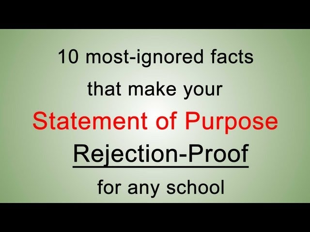 10 most-ignored statement of purpose facts to write the best statement of purpose to graduate school