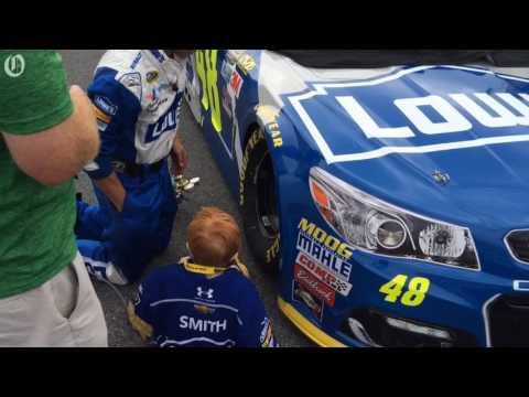 NASCAR star Jimmie Johnson has a fan -- and friend -- in Beau Smith