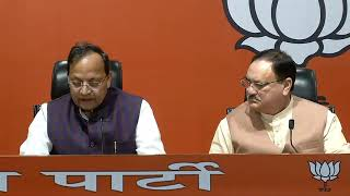 Press Conference by Shri J. P Nadda on Jharkhand at BJP HQ.