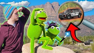 Magic Trick leaves Kermit the Frog LOST in Arizona desert! (COPS CALLED)