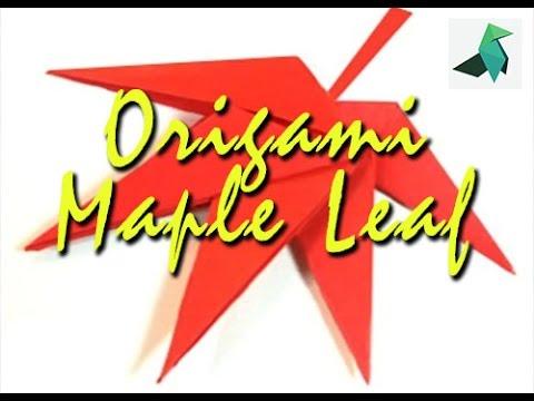 Cara Membuat Origami Bunga Maple - Maple Leaf - YouTube - photo#28