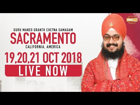 LIVE STREAMING | Sacramento CA | USA | Day 3 | 21.10.2018 | Dhadrianwale
