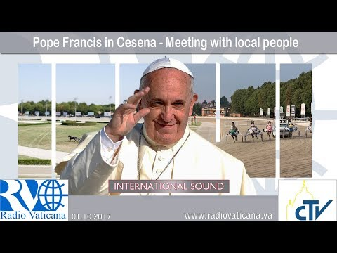 2017.10.01 - Pope Francis in Cesena - Meeting with local people