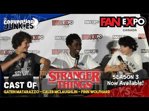 Stranger Things (Caleb McLaughlin, Finn Wolfhard, Gaten Matarazzo) FAN eXpo Canada 2017 Full Panel
