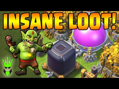 GOBLINS GET INSANE LOOT! - TH9 Farming with 220 Goblins - Clash of Clans - Fast & Easy Loot