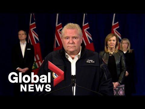 Coronavirus outbreak: Ontario Premier Doug Ford unveils new support for front-line workers   FULL