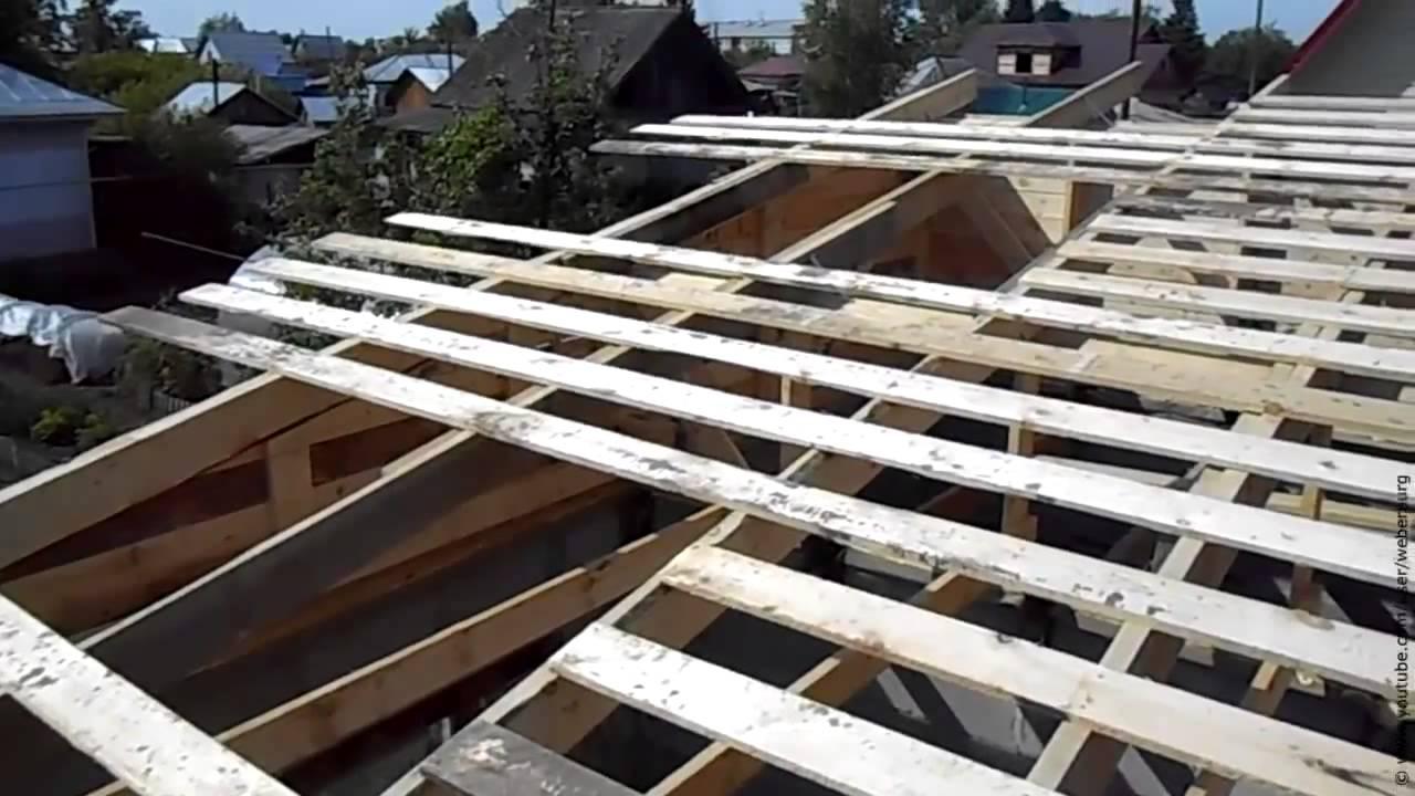 Крыша односкатная своими руками схема 742