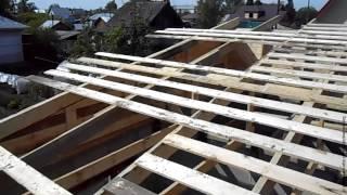 видео Кровля крыши шифером для частного дома своими руками