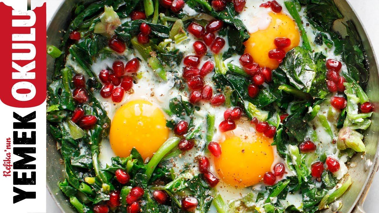 Narlı Ispanaklı Yumurta | 5 Dakikalık Yemekler
