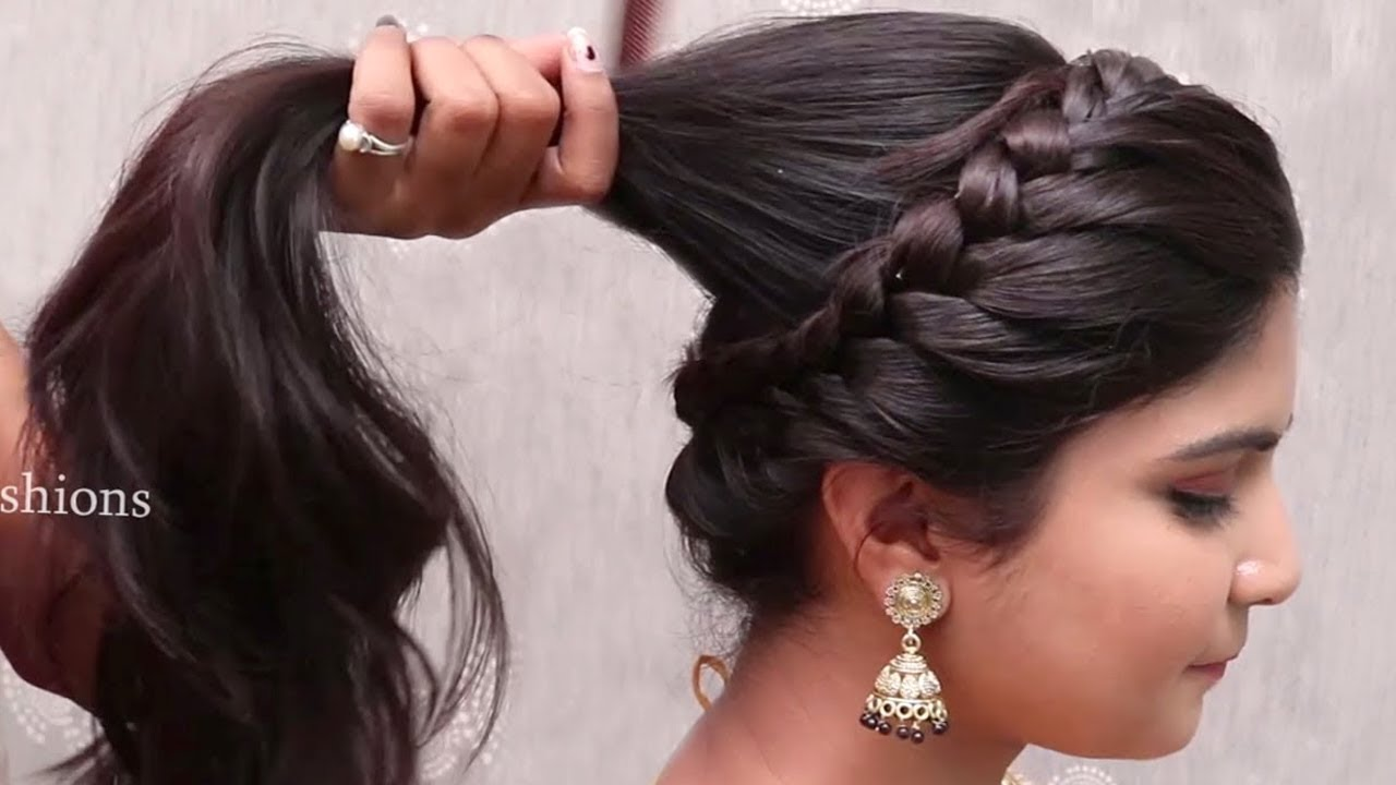 Latest Bridal Hairstyle For Girls With Long Hair Wedding