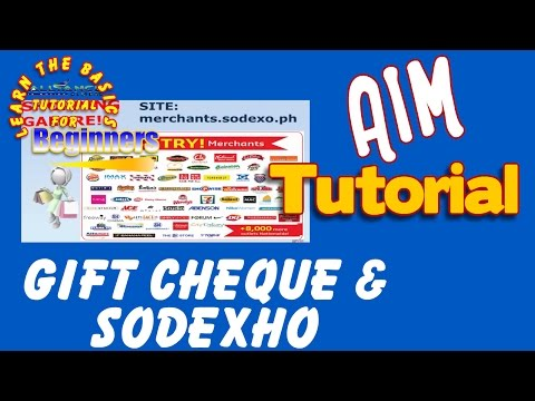 ABOUT GIFT CERTIFICATE & SODEXO - AIM GLOBAL(TAGALOG)