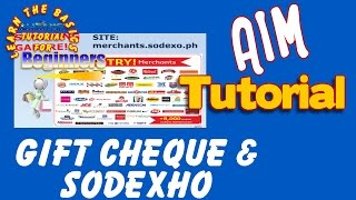 ABOUT GIFT CERTIFICATE AND SODEXO ( AIM GLOBAL TUTORIAL)