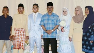 Sultan Abdullah attends wedding reception of deaf mute couple