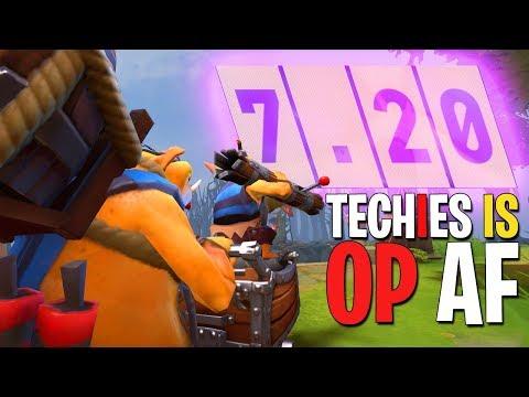 Techies in 7.20 is OP AF - DotA 2