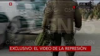 EXCLUSIVO Santiago Maldonado: El video de la represión a mapuches