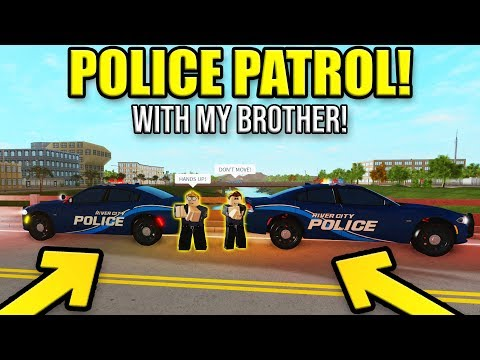 Police Patrolling with my BROTHER!! (VOICE) | Roblox Liberty County #3