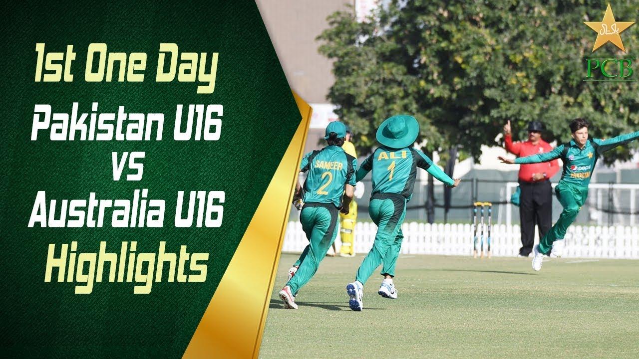 highlights-1st-one-day-pakistan-u16-vs-australia-u16-pakistan-u16-vs-australia-u16-in-uae-2019