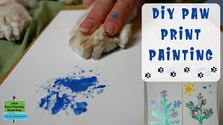 DIY Paw Print Painting Keepsake. Learn How to Make a Homemade Paw Print Painting.