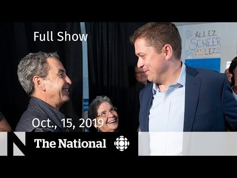CBC News: The National: The National for Tuesday, Oct. 15, 2019  — Final campaign stretch, suburban voters
