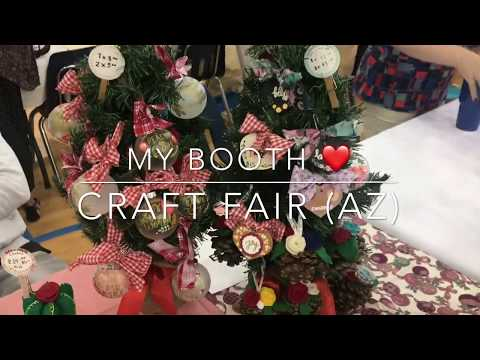 My booth at a Craft Fair (Table set up/ booth set up ) | Craft Fair Ideas