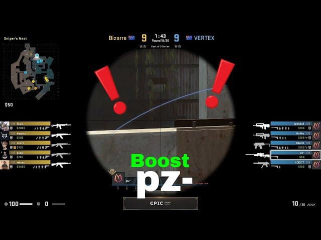 pz- Boost on Heaven - Overpass - VERTEX vs Bizarre - EPIC League Oceania 2021