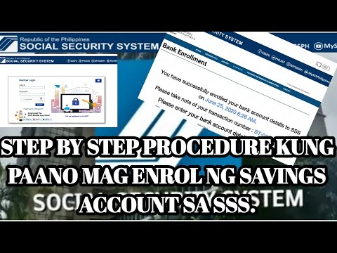 How To Enroll Savings Bank Account On Sss Para Makapag Apply Ng Un Employment Benefits Or Loans Youtube