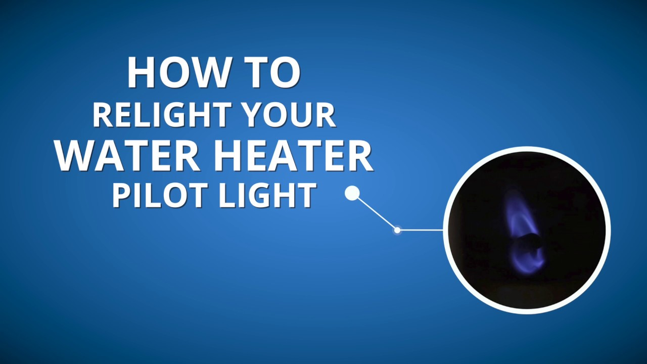 How to Relight the Pilot Light on Your Natural Gas Water Heater  YouTube