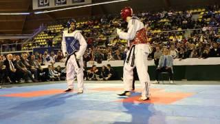 Dutch Open 2012 Taekwondo Final Aaron Cook VS Sebastian Crismanich -80KG  ( Wicked Head Shots)