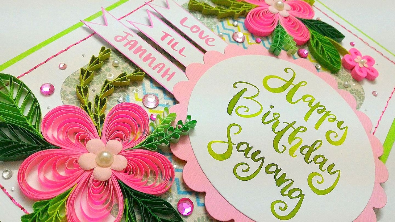 Pink pop up flowers and quilling birthday card youtube pink pop up flowers and quilling birthday card izmirmasajfo