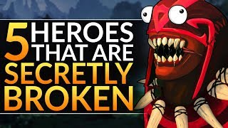 5 Heroes that are SECRETLY BROKEN - Best 7.24 Meta Tips to SOLO CARRY - Dota 2 Pro Hero Guide