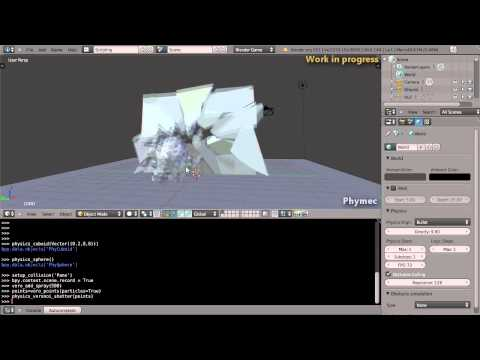 Voronoi Fracture and Shatter usage examples - Blender & Bullet Physics