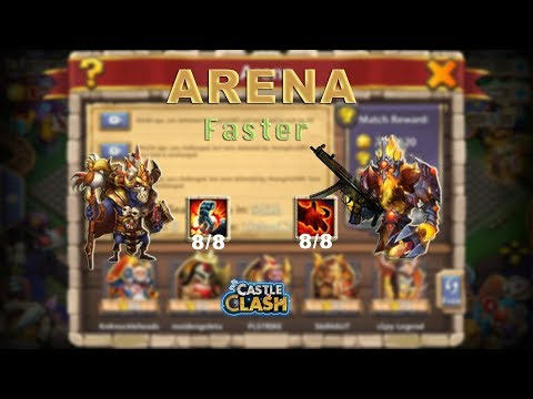 Castle Clash: ARENA FASTER BY PK AND WALLA