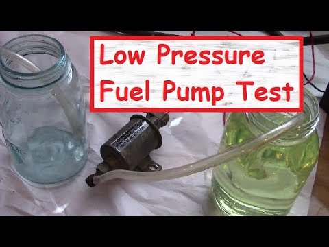 How to test a 12V Low Pressure Fuel Pump for functionality and flow - RV  Generator