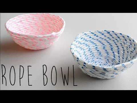 How to make twine rope bowl