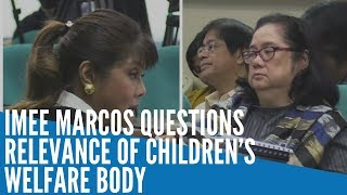 Imee Marcos questions existence of children's welfare body
