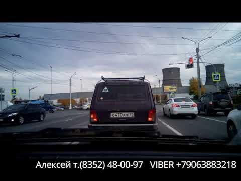 Видео-обзор экзаменационного маршрута 2-3 в городе Чебоксары (Октябрь 2019). Марпосадское шоссе