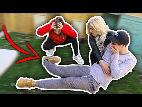 BROKEN LEG PRANK ON MOM (SHE FREAKED OUT!)