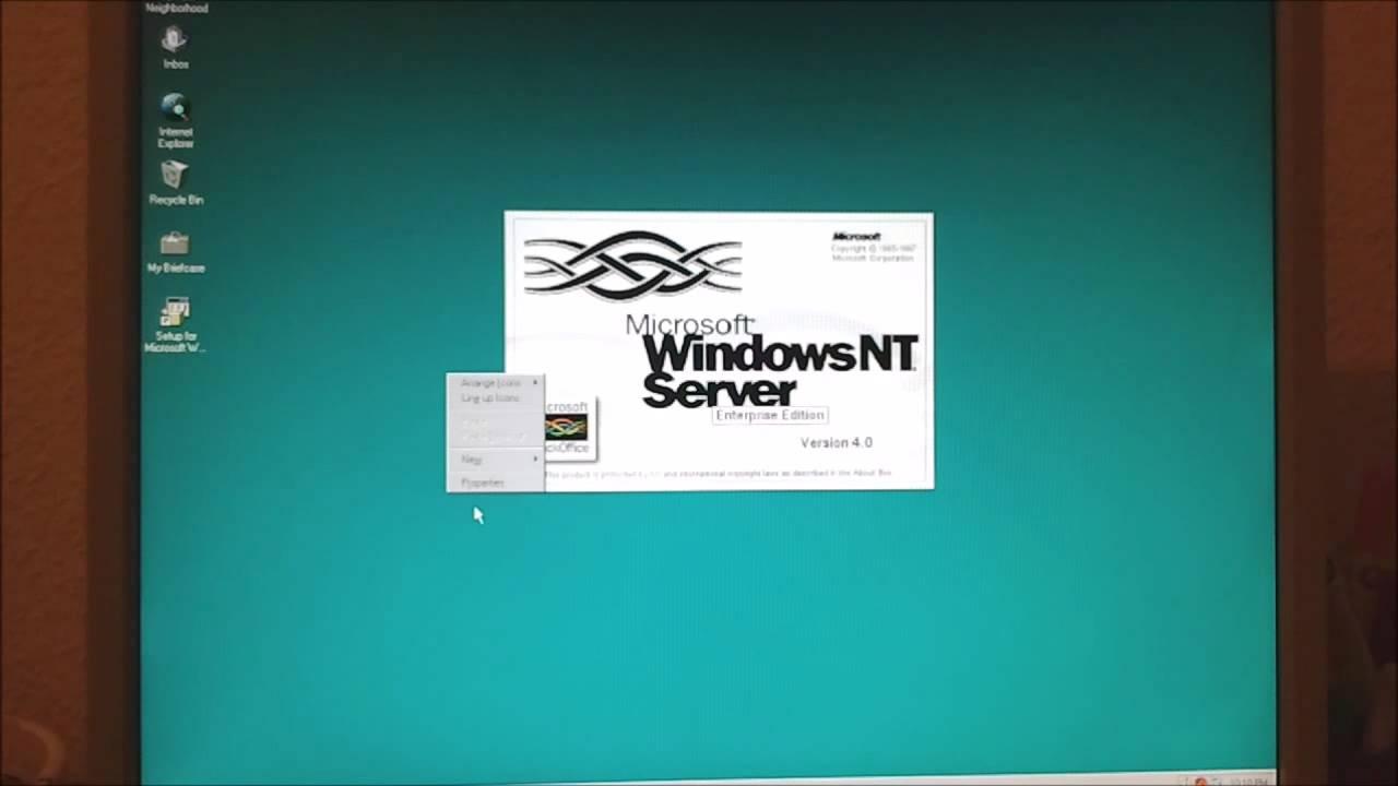 Microsoft windows nt server 4. 0 enterprise edition.
