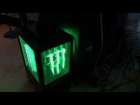 Mini Kühlschrank Monster Energy : Monster drink commercial display refrigerator mini fridge review