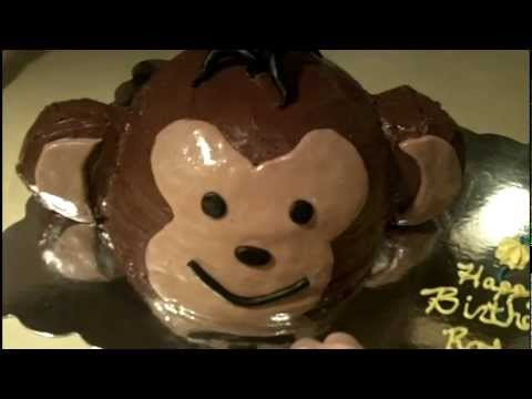 How to Make a Monkey Birthday Cake YouTube