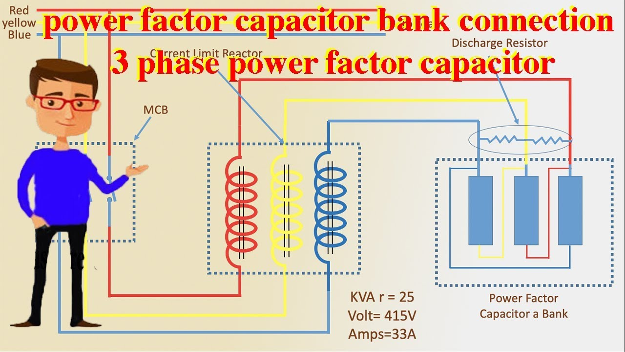 Power Factor Capacitor Bank Connection