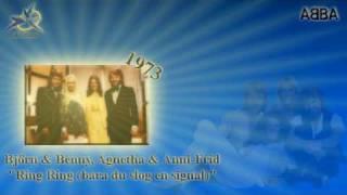 "ABBA in ESC part 4 - Björn & Benny, Agnetha & Anni-Frid - ""Ring Ring (bara du slog en signal)"" 1973"