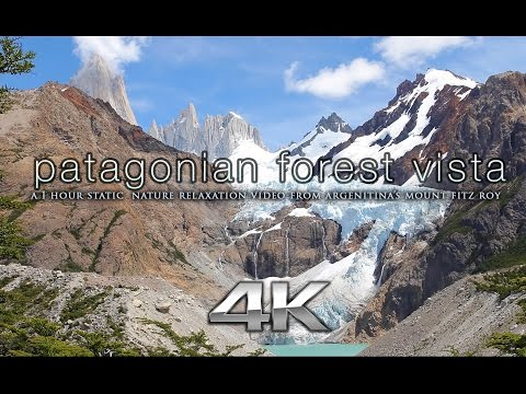 4K PATAGONIA MOUNTAIN VISTA Nature Relaxation™ Static Scene + Binaural Music for Stress Relief