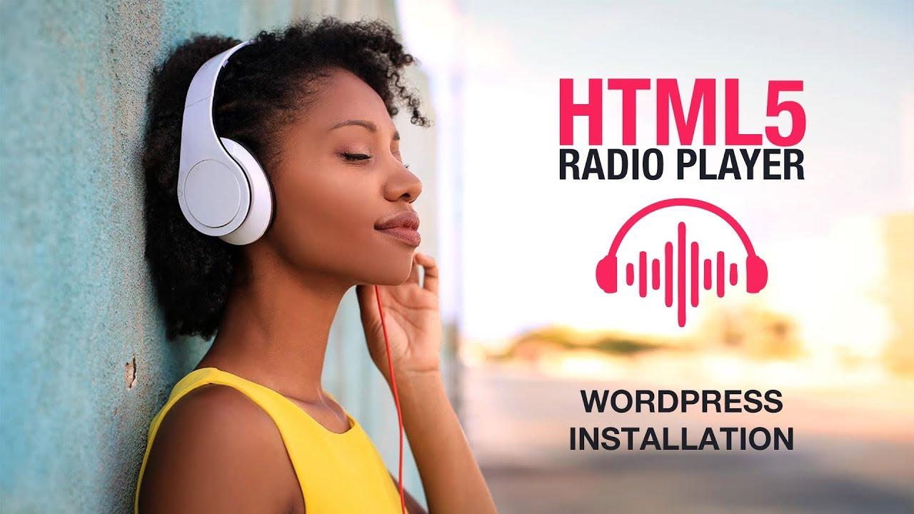 HTML5 radio player plugin wordpress installation tutorial
