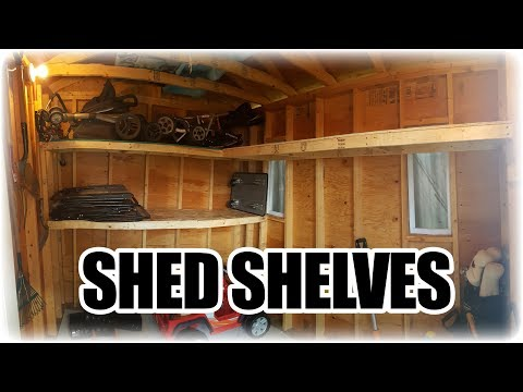 How to Make Simple and Cheap Shelves for a Shed - YouTube