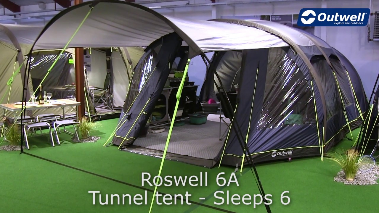 Outwell Roswell 6A Tent | Innovative Family C&ing & Outwell Roswell 6A Tent | Innovative Family Camping - YouTube