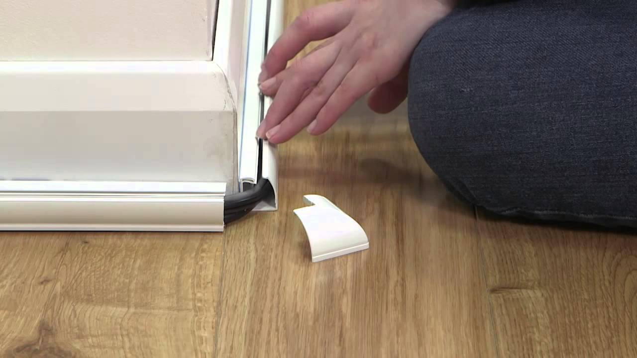 floor trim... that\'s easy to fit & also hides cables - YouTube
